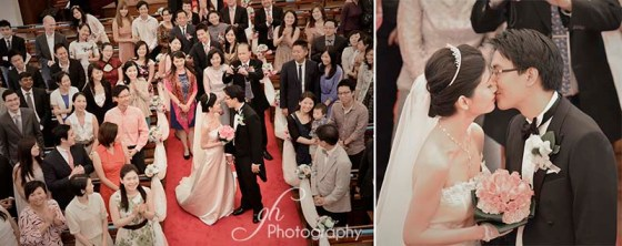 Kiss from atop Union Church hong kong wedding